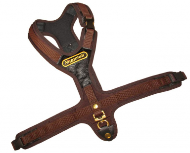 Blood Tracker Harness FOLLOW brown with 3 quick release snaps