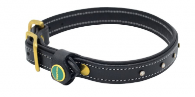 STAR Genuine Leather Collar Black