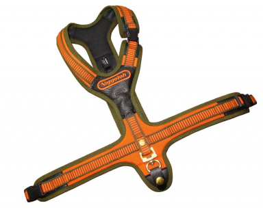Blood Tracker Harness FOLLOW orange-olive with 3 quick release snaps