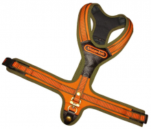 Blood Tracker Harness FOLLOW orange-olive with 2 quick release snaps