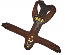 Blood Tracker Harness FOLLOW brown with 2 quick release snaps