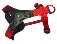 Dog Harness FOLLOW Start red-black
