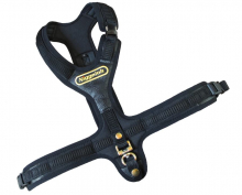 Blood Tracker Harness FOLLOW black with 3 quick release snaps