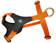 Dog Harness FOLLOW START brown-orange
