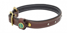 STAR Genuine Leather Collar Brown